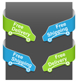 Left and right side signs - free delivery vector