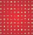 100 beach icons vector