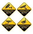 Security camera pictogram video surveillance set vector