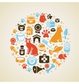 Frame with cat and dog icons vector