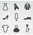 Fashion icon set vector