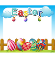 An easter sunday template vector