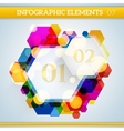 Info graphic hexagonal paper elements on abstract vector