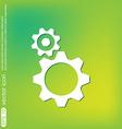 Cogwheel icon setting and repair symbol settings vector