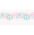 Sketch peace symbols seamless pattern background vector