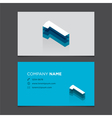 Business card number 1 vector