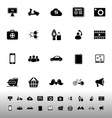 Social network icons on white background vector