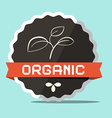 Organic retro label vector