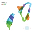 Abstract color map of taiwan vector