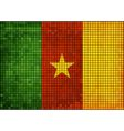 Abstract mosaic flag of cameroon vector