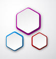 Paper white hexagonal notes vector