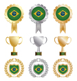 Gold silver and bronze brazil vector