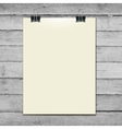 Template of a paper sheet on the wooden table vector