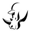 Rhinoceros head tattoo vector