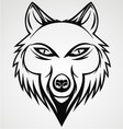 Wolf head tattoo vector
