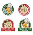 Dog labels vector