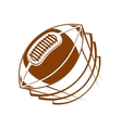 Football or rugby ball flying through the air vector