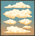 Vintage cloud background design vector