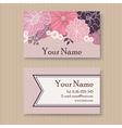 Business card violet vector