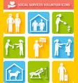 Volunteer icons set flat vector