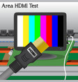 Hdmi signal test in process production television vector