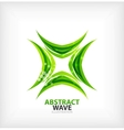 Green concept abstract business icon vector