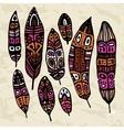 Ethnic feather set vector