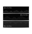 Set of black lace banners vector