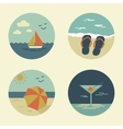 Summer icons retro vector
