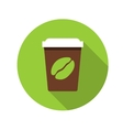 Flat design concept coffee with long shadow vector