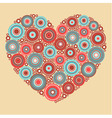 Bright abstract heart on beige background vector
