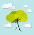 Tree with clouds vector