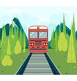 Wagons in forest tourism and journey symbol vector