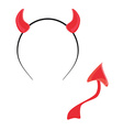 Devil tail and horn vector