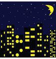 City in night vector