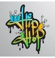 Graffiti word characters print vector