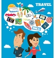 Travel dreams scene vector