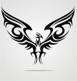Eagle bird tattoo design vector