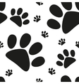 Cartoon cat paw seamless pattern vector