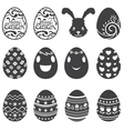 Easter eggs icons and set vector