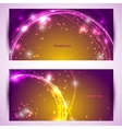 Set of two banners abstract headers with golden vector