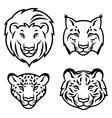 Feline stylized vector