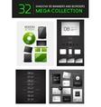Mega set of creative 3d banners dividers vector