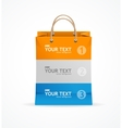 Paper bag like option banner vector