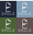 Eagle monogram vector