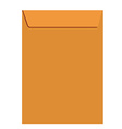 Orange closed envelope vector