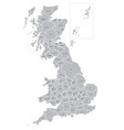 Map of counties of great britain vector
