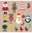 Christmas design elements set vector