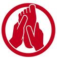 Foot massage symbol vector