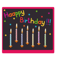 Candles on birthday vector